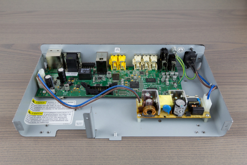 The old power supply board installed in the HC300.